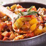 Рецепт Тушеный болгарский перец с баклажанами в белом вине