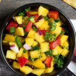 Рецепт Праздничный салат на день рождения из манго и болгарского перца