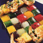 Рецепт Свежий шашлык с креветками и ананасом