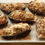 Рецепт Ароматные и вкусные баклажаны-лодочки, запеченные в духовке