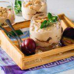 Рецепт Сливовый десерт с творожным кремом