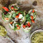 Рецепт Закуска с огурцом и копченой индейкой