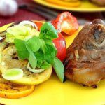 Рецепт Индейка и овощи-гриль на мангале
