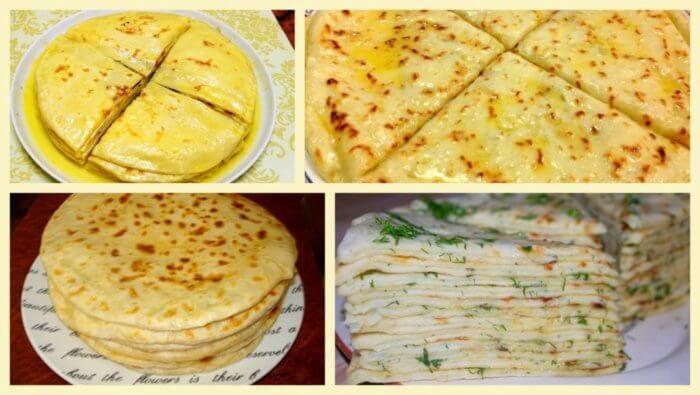 На фото Хычины балкарские с сыром и картофелем