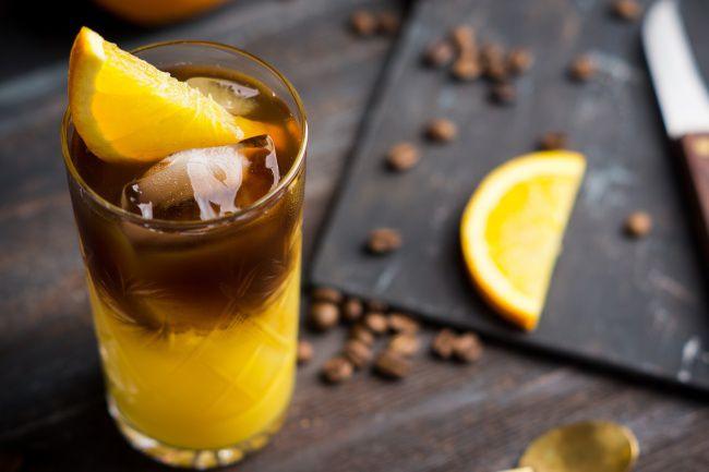 На фото Ледяной апельсиновый кофе для любимой