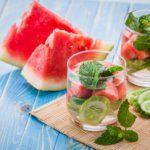 Рецепт Освежающий напиток из лайма и арбуза
