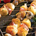 Рецепт Овощной шашлык из грибов