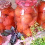 Рецепт Сахарные помидоры, маринованные на зиму в литровых банках