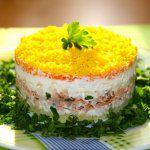 Рецепт Салат мимоза рецепт с консервой