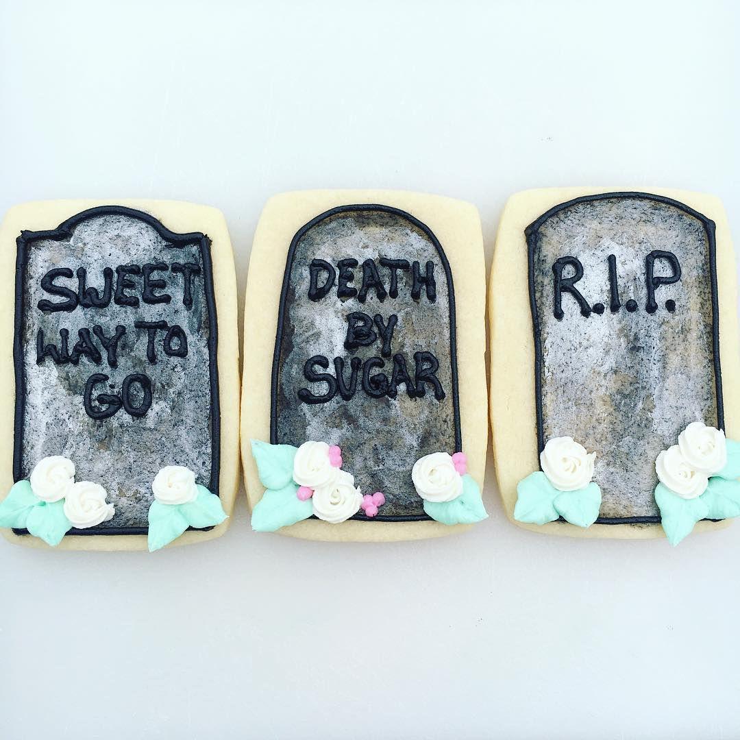 Как сделать Гробики на печенье на Хеллоин ~ Домашние рецепты