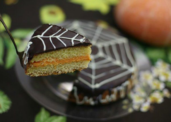 Тыквенный пирог с шоколадом на Хэллоуин ~ Домашние рецепты