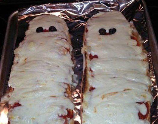 Хэллоуинская мумия-пицца для друзей ~ Домашние рецепты
