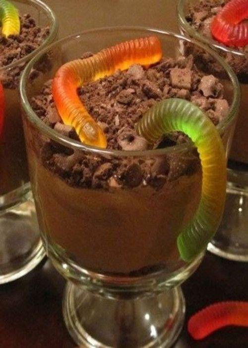 Шоколадный мусс с червяками ~ Домашние рецепты