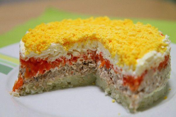 Салат «Мимоза» с сыром ~ Домашние рецепты