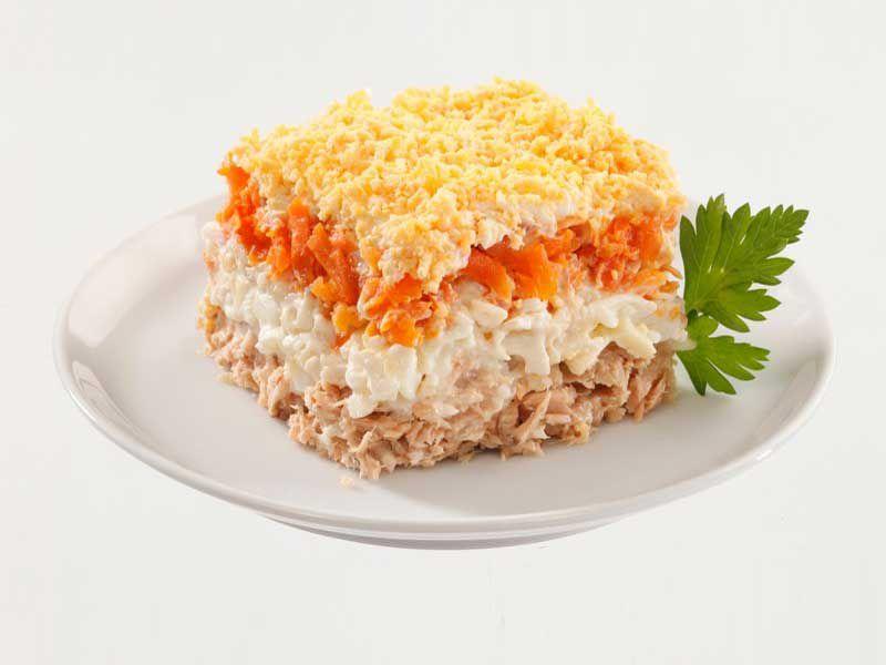 Салат «Мимоза» с сайрой ~ Домашние рецепты