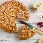 Рецепт Быстрый пирог с яблоками (простой, без яиц)
