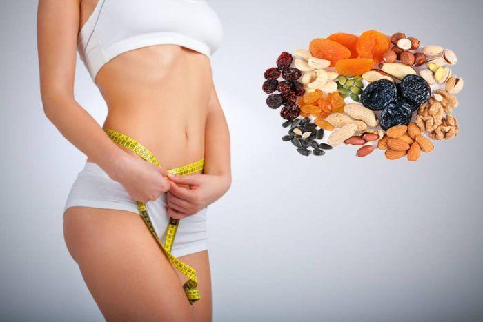 На фото Самые полезные сухофрукты при диете