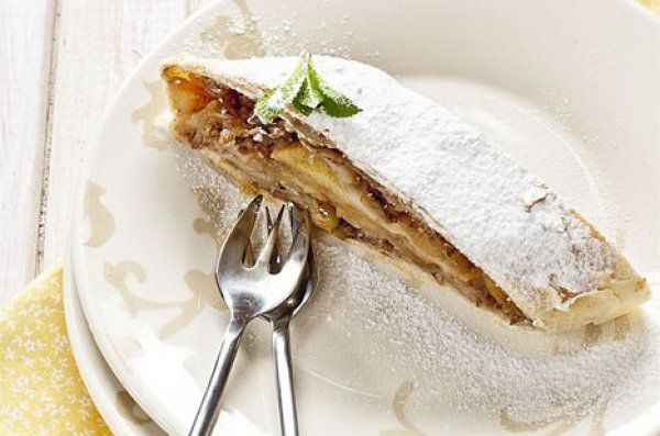 Новогодний Рецепт: Готовим постный яблочный штрудель ~ Домашние рецепты
