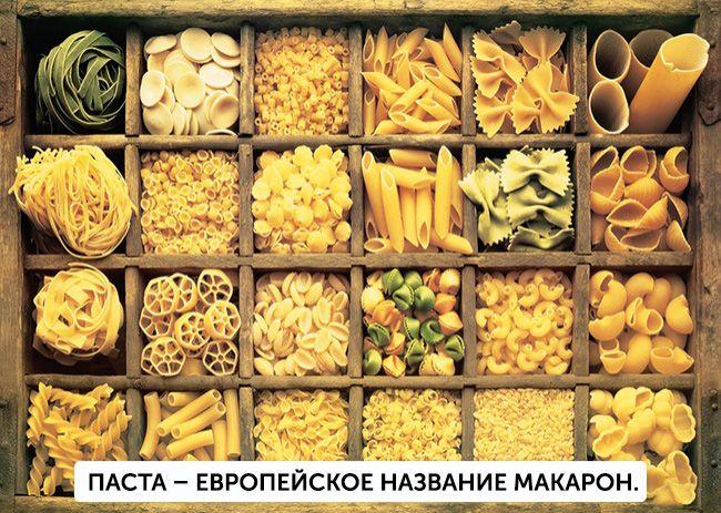 На фото В чем различие: Макароны и паста