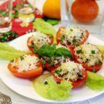 Рецепт Фаршированные томаты с грибами