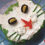 Рецепт Домашний сэндвич с сыром и ветчиной в виде кошачьей мордочки