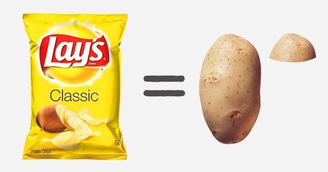 Маленькая пачка чипсов