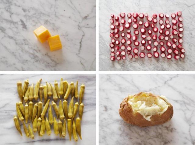 На фото Как выглядят 100 калорий в порциях здоровой пищи