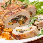 Рецепт Мясной рулет с овощами