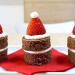 Рецепт Как приготовить пирожные Шапка Санта-Клауса