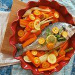 Рецепт Дорада с морковью и цитрусовыми