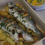 Рецепт Сибас, запеченный с картофелем