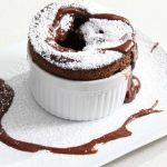 Рецепт Шоколадное суфле с хурмой