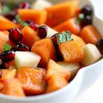 Рецепт Фруктовый салат из хурмы, яблок и граната