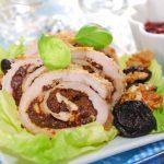 Рецепт Мясной рулет с черносливом и орехами
