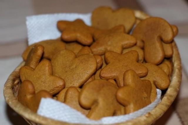 На фото Имбирное печенье