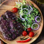 Рецепт Сочный стейк на сковороде-гриль из лопатки