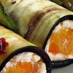 Рецепт Баклажановые рулетики с начинкой из рикотты и апельсином