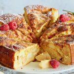 Рецепт Ванильная шарлотка с яблоками в духовке (простой вариант)