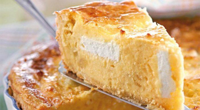 На фото Сырно-картофельный пирог в домашних условиях