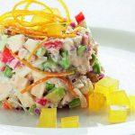 Рецепт Апельсиновый салат с крабовым мясом