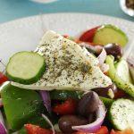 Рецепт Салат из свежих овощей с рассольным сыром