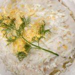 Рецепт Правильный салат Мимоза с рыбными консервами (классический)