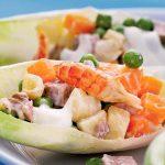 Рецепт Особенный салат Оливье с мясом