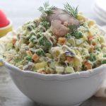 Рецепт Рыбный салат оливье (пошаговый вариант)