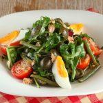 Рецепт Томатный салат из стручковой фасоли с тунцом