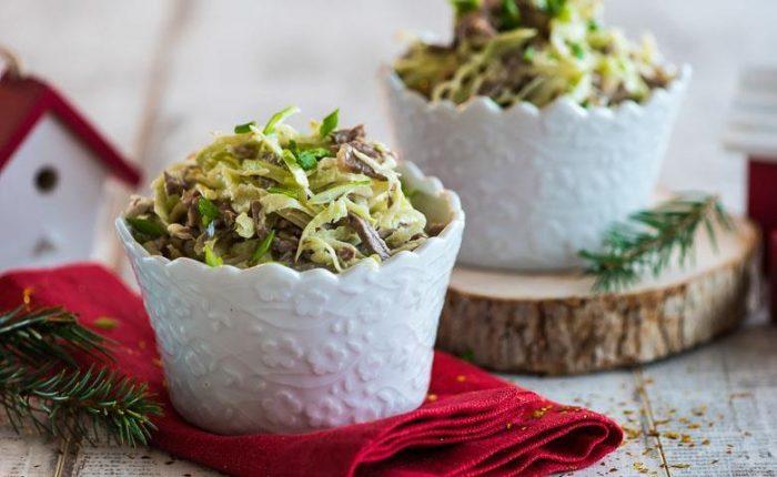 На фото Говяжий салат Узбекистон