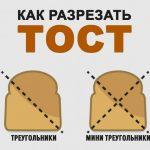 Как нарезать тост