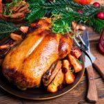 Рецепт Запеченная утка с яблоками и клюквой
