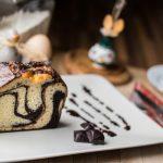 Рецепт Шоколадно-апельсиновый мраморный кекс