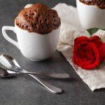Рецепт Шоколадный кекс в кружке на День святого Валентина